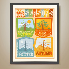 The four seasons retro kids' print