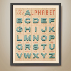 Old textbook alphabet a complete guide kids' print