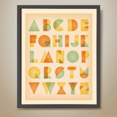 Post modern alphabet retro kids' print