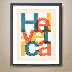 Helvetica retro print