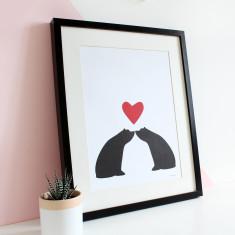 Kisses A3 print