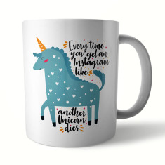 Instagram Unicorn Ceramic Mug