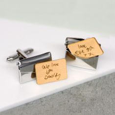 Handwritten Personalised Envelope Cufflinks