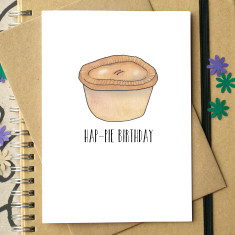 Hap-pie birthday card