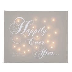 Happily ever after personalised illuminated canvas