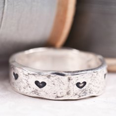 Happily ever after sterling silver ring