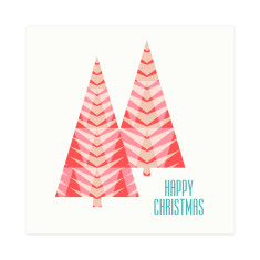 Happy trees Christmas gift cards (set of 6)