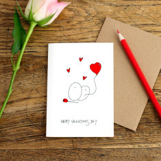 Happy Valentine's Day greeting card (pack of 6)