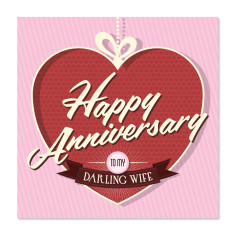 Darling wife anniversary card