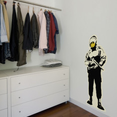 Banksy Happy Copper wall sticker