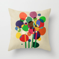 Happy flowers in the vase cushion cover