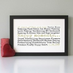 Personalised special memories & moments print