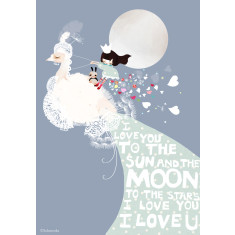To the moon print