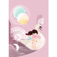 Sweet dreams pink girls wall art