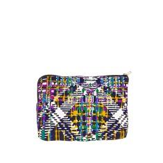 Indianna zip clutch in violet