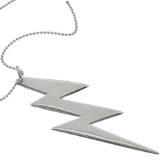 Lightening bolt sterling silver necklace