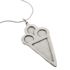 Ice cream sterling silver necklace