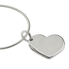 Little heart sterling silver necklace