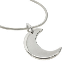 Little moon sterling silver necklace
