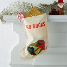 No rubbish please Christmas stocking