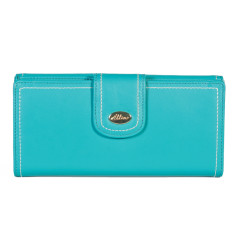 Harley large slim wallet in turquoise
