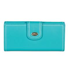 Harley large slim wallet in turquoise