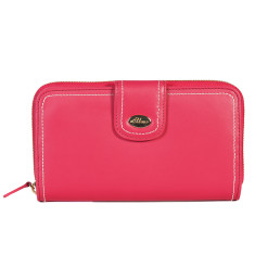 Harley large zip wallet in coral