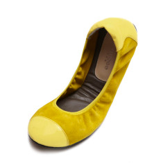 Classic elegance ballet pumps in Harrow yellow