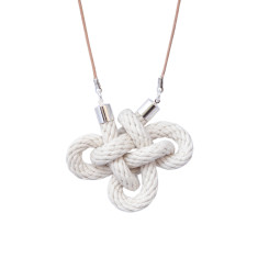Charmed knot necklace in natural