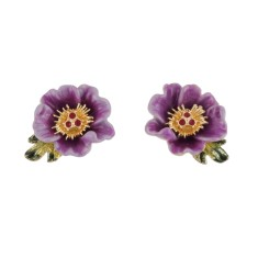 Purple Primrose Earrings