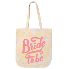 Bride To Be Floral Tote Bag