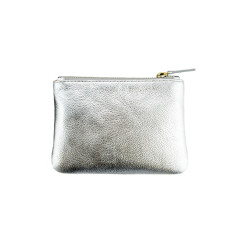 The Gia coin purse - silver