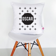 Crosses personalised cotton cushion cover