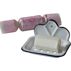 Bon bon soap and a soap dish