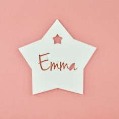 Monochrome Acrylic Personalised Kids' Star Bedroom Door Sign