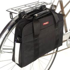 Po Campo black pannier laptop bag