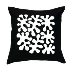 Black and white handmade cushion cover