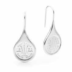 Wheat design Australian threepence coin drop earrings