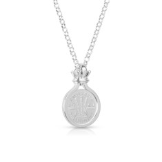 Wheat design Australian threepence coin pendant w/ rolo chain