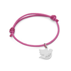 Christening personalised dove charm bracelet