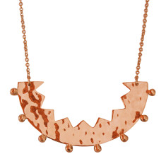 Frida necklace in rose gold plate