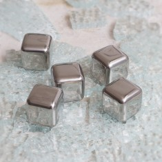 Carlos Stainless Steel Ice Cubes