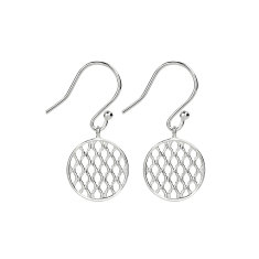 Sterling silver round drop earring