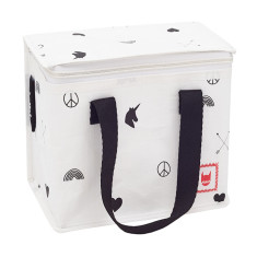 Insulated lunch box bag in Munster's Rainbows & Arrows Print