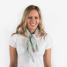 Bandana scarf in aqua/green