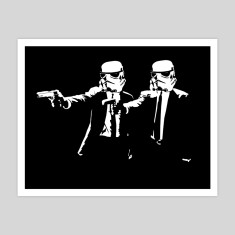 Pulp Fiction Stormtroopers print