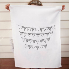 Bunting design DIY tea towel kit