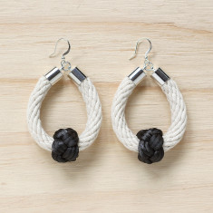 Safari earrings in natural with slate