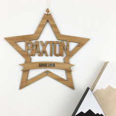 Personalised Star Name Wall Hanging
