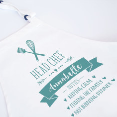 Chef Duties Personalised Adult Apron - Various Colours